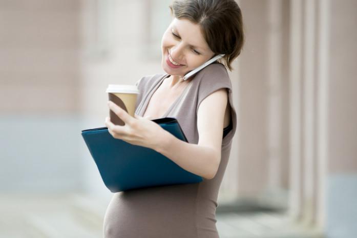 вагітна з кавою
