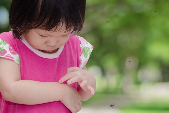 комары вокруг ребенка