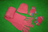 Шапка шарфик и перчатки