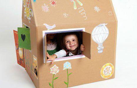 Домики из картонных коробок
