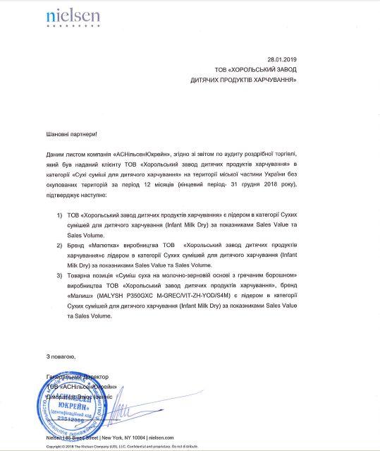 Официальное письмо