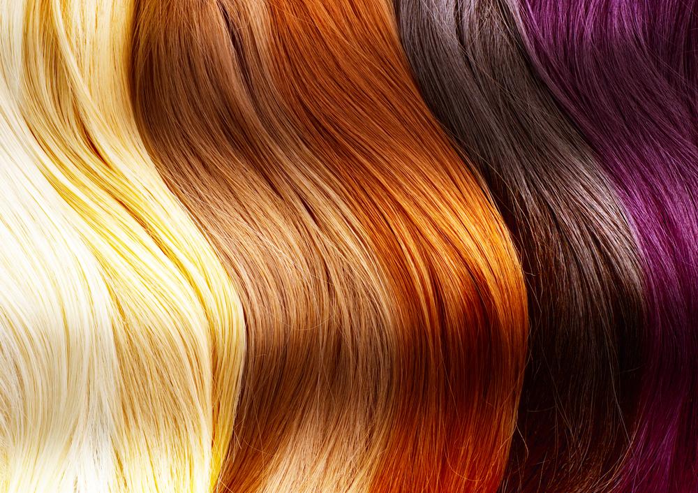 фарбоване волосся різного кольору