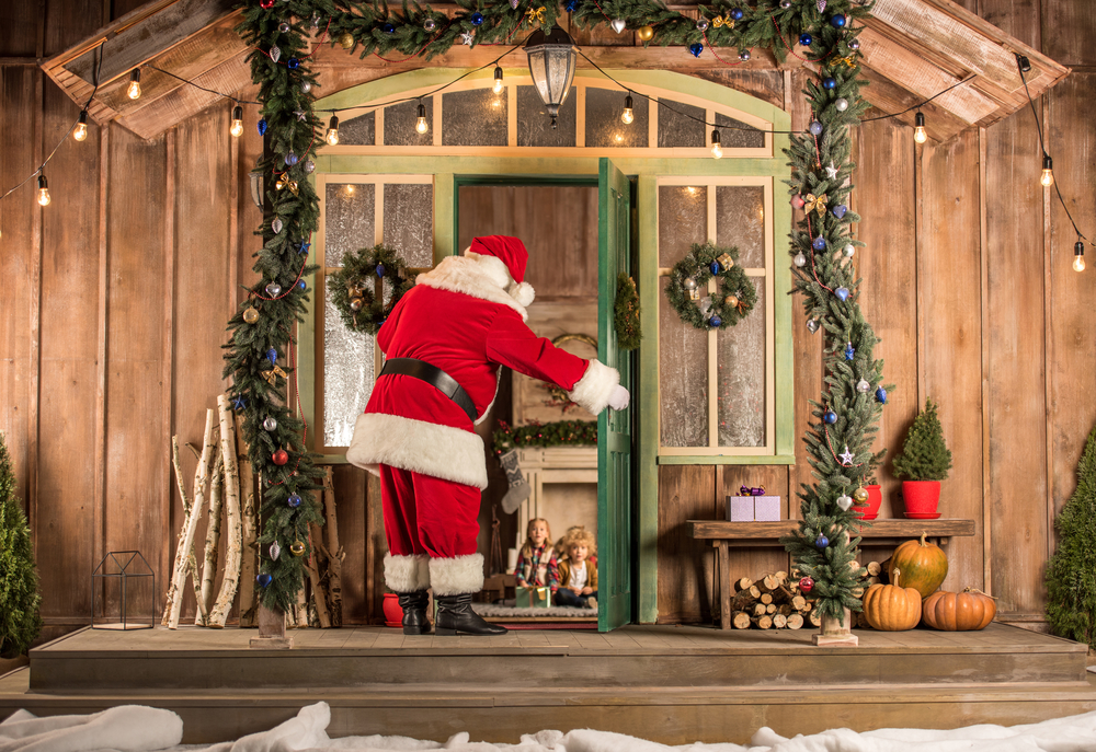 Дед Мороз дома