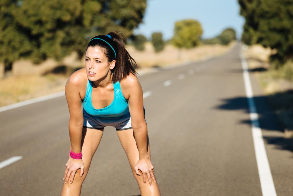 Жінка під час пробіжки