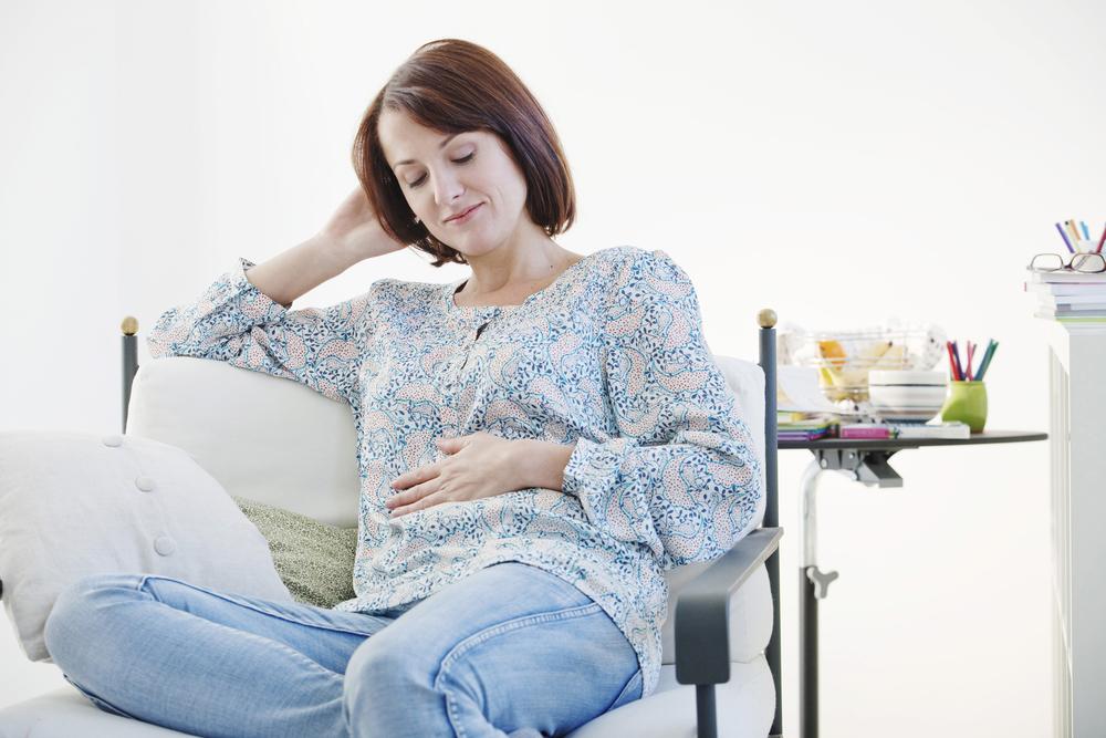 Женщина на втором месяце беременности