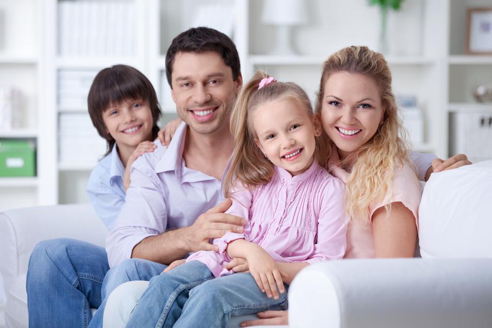 здоровые дети и родители