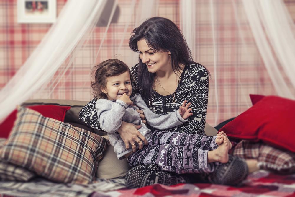 Семейная фотосессия в пижамах - расслабленное настроение, когда устала от подготовки к Новому году 2018