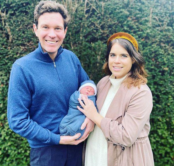 Принцеса Євгенія з чоловіком і сином